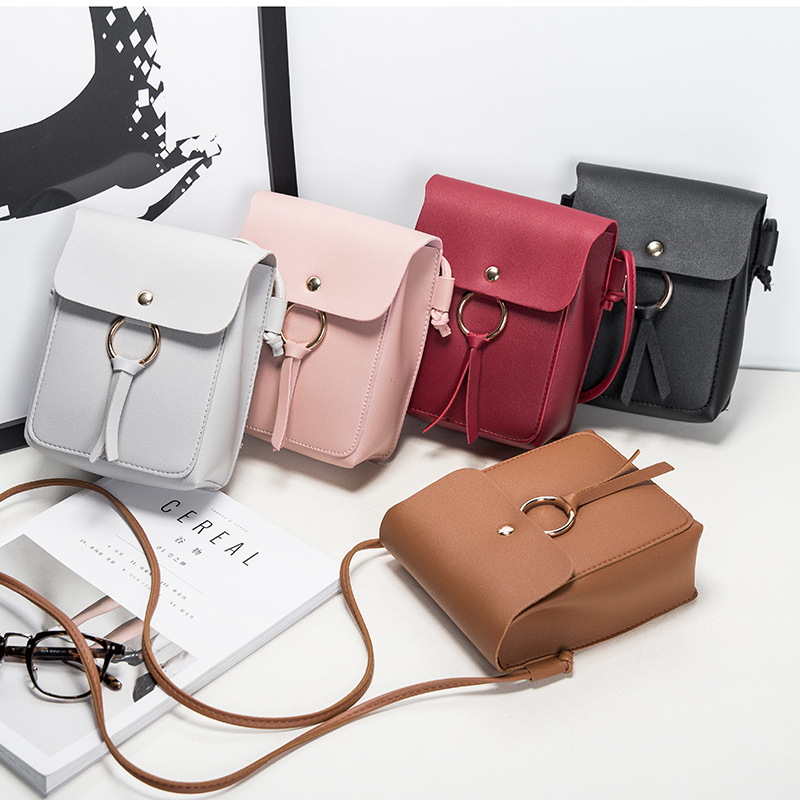 small square bag 2020 fashion shoulder bags for women envelope Cute student leather Simple Korean version messenger phone PU
