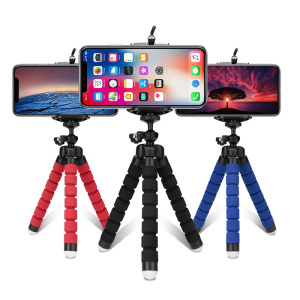 Image 2 - Mini Flexible Sponge Octopus Tripod 360° Adjustable Travel Portable Camera Stand   Compatible with  Cell Phones, Sport Cameras