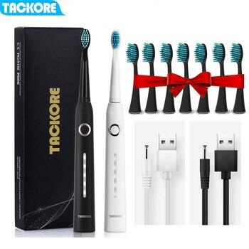 TO01 tacore elektryczna soniczna szczoteczka do zębów USB akumulator inteligentny dorosły wodoodporny IPX7 wybielanie zdrowy najlepszy prezent wymienny