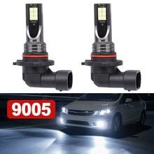 1 par 9005 hb3 led farol do carro kit 110w 20000lm luz de nevoeiro lâmpada 6000k