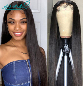 Прямые парики на шнурках 6x6, парики с детскими волосами на шнурках, парики из человеческих волос для женщин