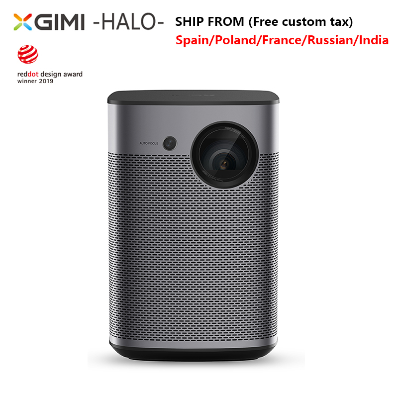 XGIMI Halo Mini projecteur Portable 1080P Full HD 3D Home cinéma Android TV 9.0 Wifi avec batterie Google 800ANSI lumensn Proyect