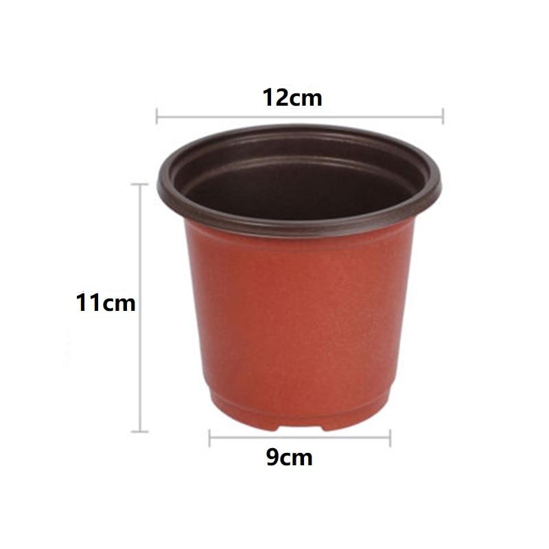 100pcs Plastic Planting Pots Seed Starter Grow Nursery Flower Herb Plant Flowerpot Gardening Home Supplies