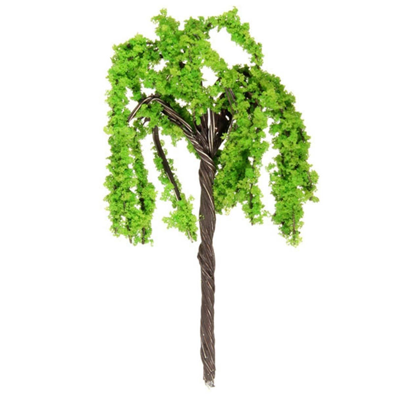 Willow Tree Miniature Dollhouse Pots Decor Moss Bonsai Mini Landscape DIY Craft Garden Ornament