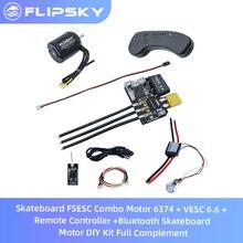 Kaykay ESC Combo Motor 6374 + FSESC 6.6 + uzaktan kumanda + Bluetooth kaykay Motor DIY kiti tam tamamlayıcı