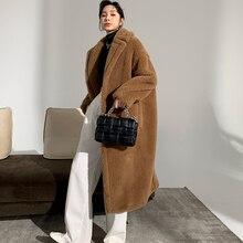 Women's Coat Teddy Bear Fur Coat Women Alpaca Coat Women Wool Coat Loose Coat 2020 Winter Thicken Coat High-end Coat
