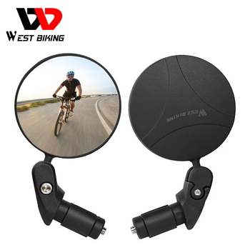 WEST BIKING 360 obróć rowerowe lusterko wsteczne bezpieczeństwo Cycing lusterko wsteczne akcesoria rowerowe kierownica do roweru górskiego lusterka tanie i dobre opinie CN (pochodzenie) HSJ-YP0720021 Bicycle Rearview Mirror 360 Rotate Bike Mirror Bicycle Mirror Black Polyurethane + PC aluminum alloy