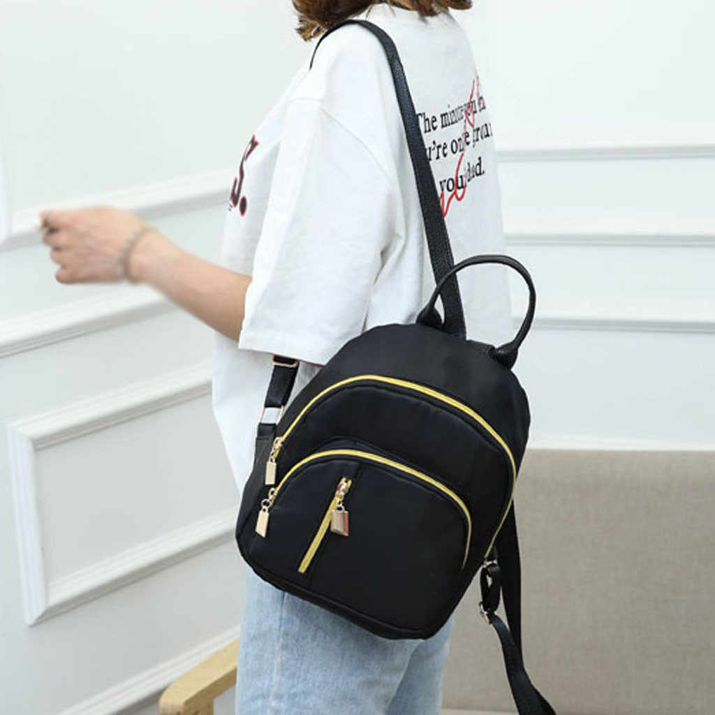 小さなフラップクロスボディバッグ女性のファッションソリッドカラーのバックパック多機能ショルダーバッグカジュアルバックパック 3.46