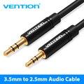 Vention Cable auxiliar de 2,5mm a 3,5mm toma de Cable Audio 3,5 a 2,5 macho Cable auxiliar para coche altavoz para Smartphone auricular móvil