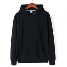 Fall And Winter Mens Pure Colored Hoodies Leisure Sports Pullovers Customized Cotton Hip hop Wear logo 19