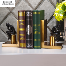 New Arrival Golden Iron Book Stand Semi-manual Book Decoration,  Study Decoration Set Promotion European style Metal Material
