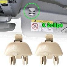 Support de Clips pour pare-soleil de voiture, 2 pièces, pour SKODA CITIGO RAPID FABIA NJ KAMIQ KAROQ kodiaj OCTAVIA 5E A7 superbe 3V