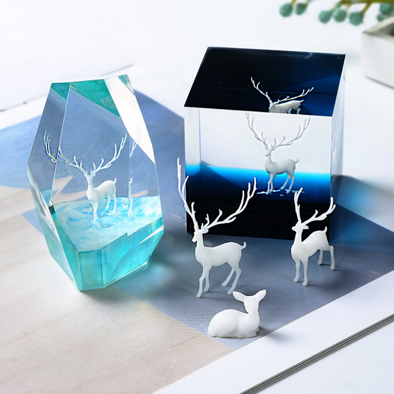 3D Elk Fairy Deer Model Jewelry Findings Pendant Accessories DIY Charms Handmade Epoxy Resin Cabochon Material Craft