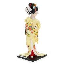 12 Inch Retro Japanese Kabuki Doll Kimono Statue Figurines Ornaments Art Crafts Gift for Home Room Hotel Desk Cabinets Decor