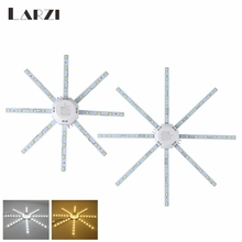 LARZI Ceiling Lamp LED Light 12W 16W 20W 24W LED Bulb Board Light SMD 5730 AC 220V PCB Board Octopus Tube Energy Saving Lamp high bright ceiling lamp 12w 16w 24w 220v pcb board modified light source led bulb plate octopus tube energy saving lamp plafon