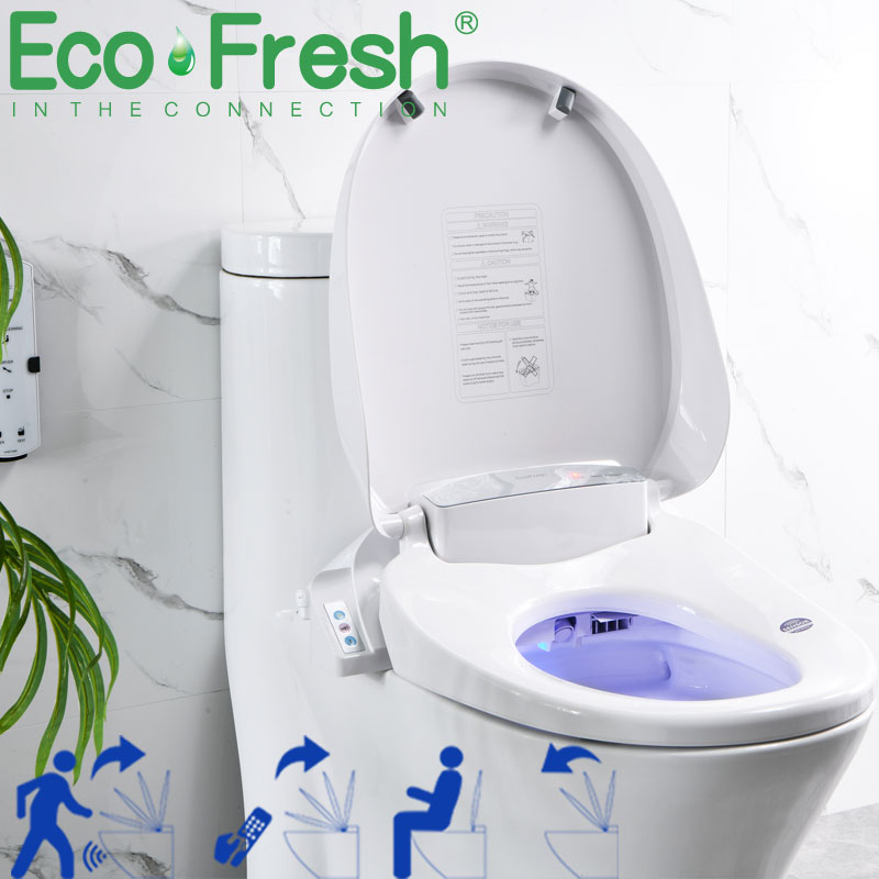 EcoFresh Smart toilet seat  Electric Bidet cover intelligent bidet heat clean dry Massage care for child woman the old 6