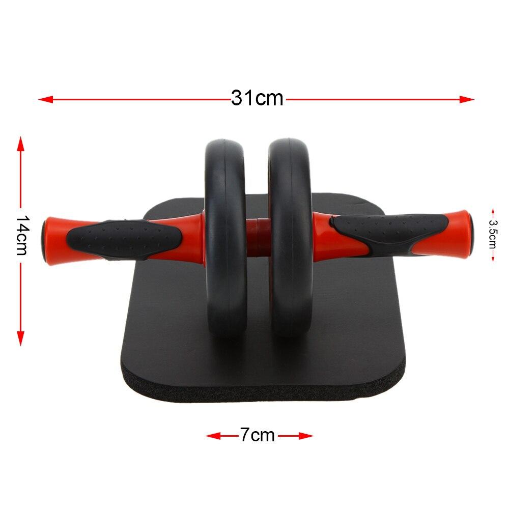 Rodillos Ab rueda Abdominal sin ruido rodillo Ab con estera para ejercicio equipo de Fitness estera de rueda Abdominal rojo gris - 2