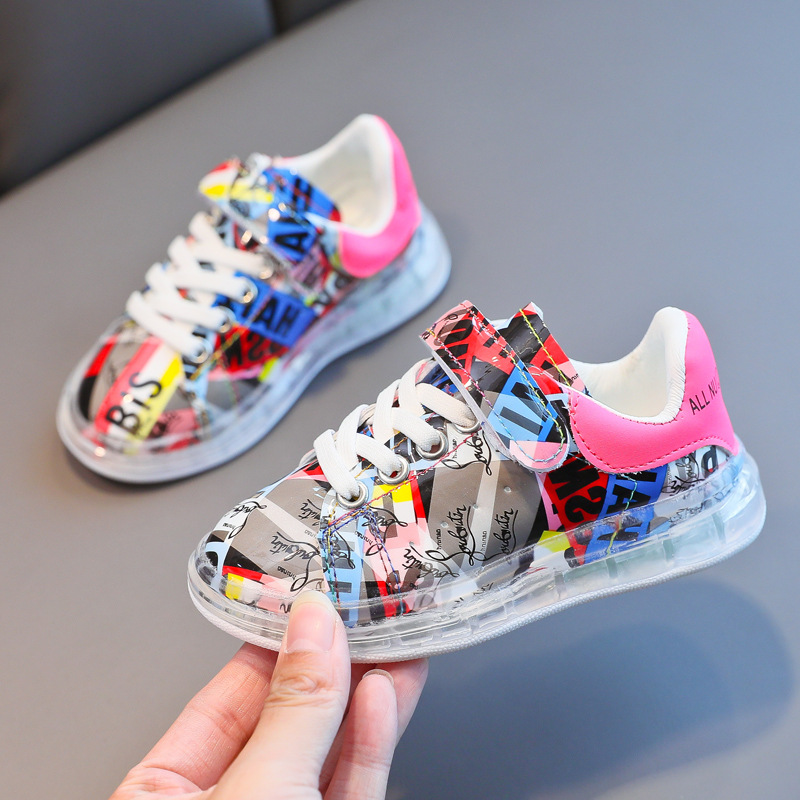 Baby Fashion Sneakers 1-6 Years Girls Comfortable Casual Shoes Boys Sports Shoes Children Kids Toddler Running Shoes Size 21-30