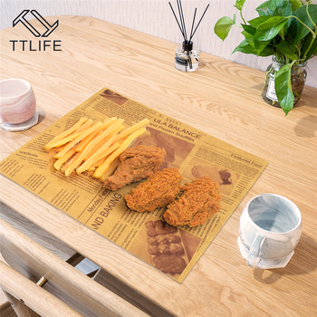 200pcs Literary Newspaper Baking Oilproof Paper Tea Restaurant Bread Fries Deep Fried Oil Pad Paper Baking Special Pastry Paper