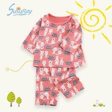 Cotton Nightwear Pyjamas Clothing-Set Sleepwear Girls Baby Kids Summer Cartoon Susuray