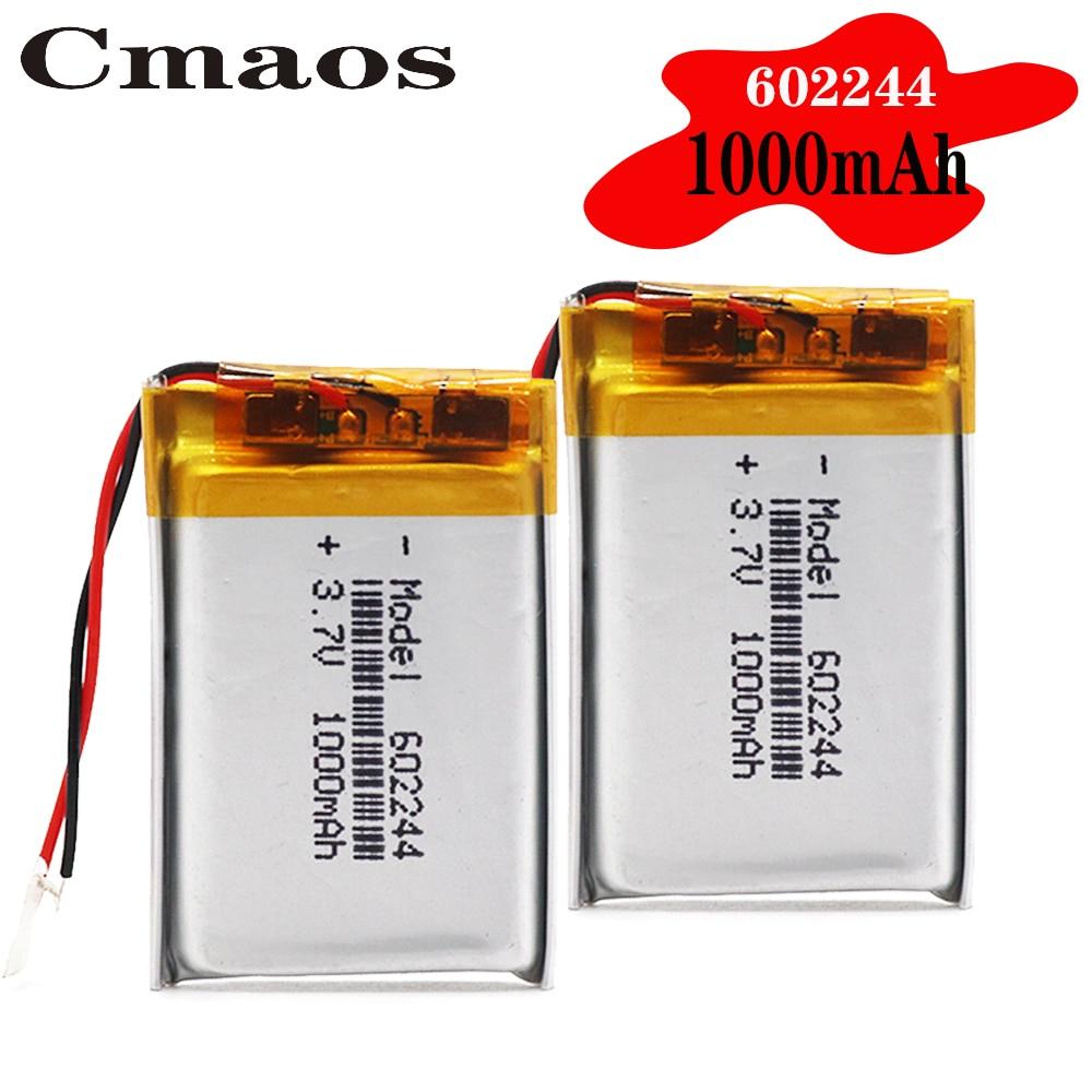 Bateria do li-íon dos oradores mp3 da bateria 1000 mah 3.7 v 602244 do polímero para brinquedos bondes do orador de bluetooth do telefone celular de dvr gps mp3 mp4