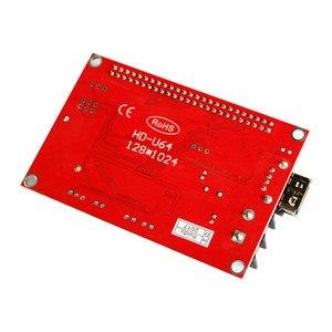 Image 5 - Huidu HD U64 HD U64 sterownik wyświetlacza LED pojedynczy i podwójny kolor P6 P10 moduł znaku led karta kontrolna u disk do edycji huidu HD U64