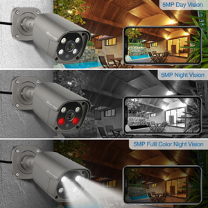 Image 5 - Techage H.265 4CH 5MP POE NVR Kit CCTV System Two Way Audio AI IP Camera IR Outdoor Waterproof Video Security Surveillance Set