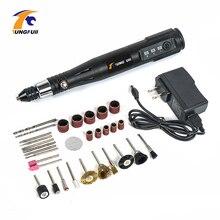 Elektrikli güç araçları ile Mini matkap 0.3 3.2mm taşlama aksesuarları seti çok fonksiyonlu Mini gravür kalem Dremel araçları için