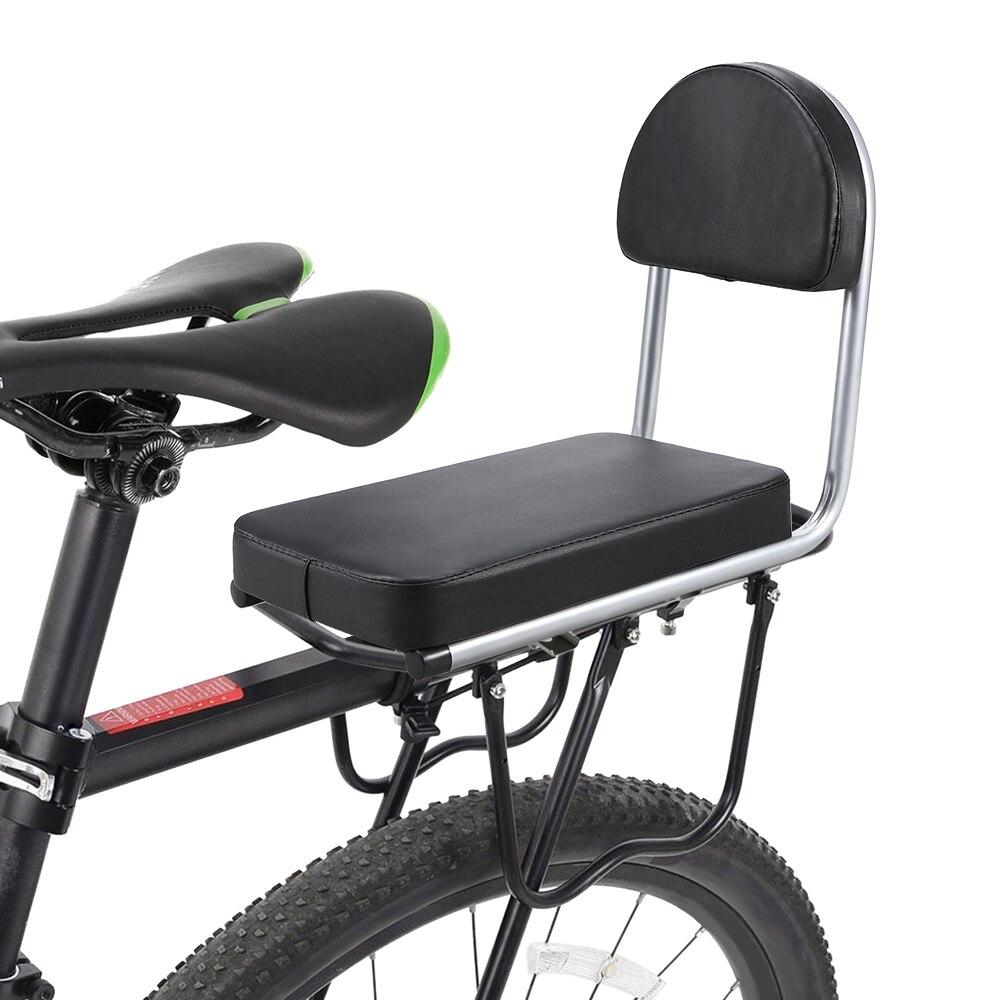 Asiento trasero de bicicleta para chico, barandilla trasera para bicicleta, reposabrazos, asiento trasero para niño, asiento trasero para bicicleta, cojín suave, asiento trasero para niños
