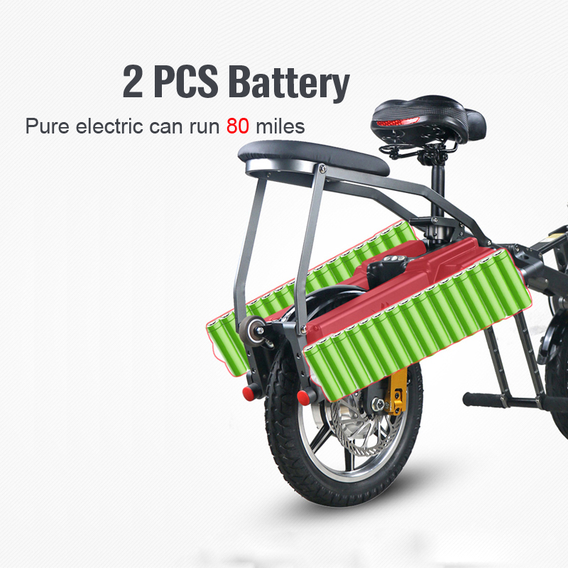 JX003 High speed electric bike 350w 48V 3 wheel foldable electric bicycle e scooter 7