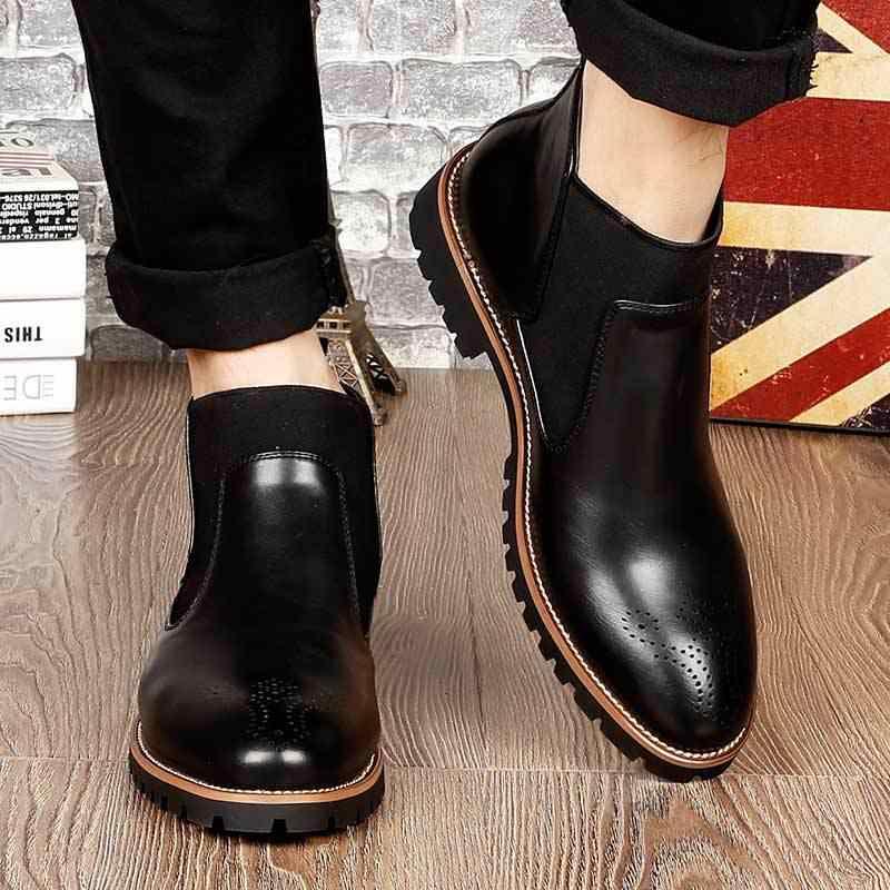 Livraison directe 2020 nouveau printemps/automne hommes mode bottes costume avec hommes bottes lisses sauvage décontracté grande taille 38-46 XYZ403