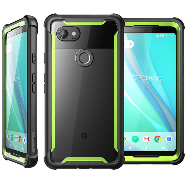 I BLASON For For Google Pixel 2 XL Case Original Ares Series Full Body Rugged Clear Bumper Case with Built in Screen Protector