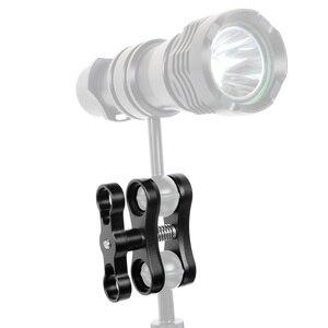 Image 5 - Liga de alumínio 2 furos para mergulho, bola de luzes de borboleta, clipe de braço, braçadeira, para gopro hero 7 6 5 4 xiaoyi/sjcam câmera de ação esportiva