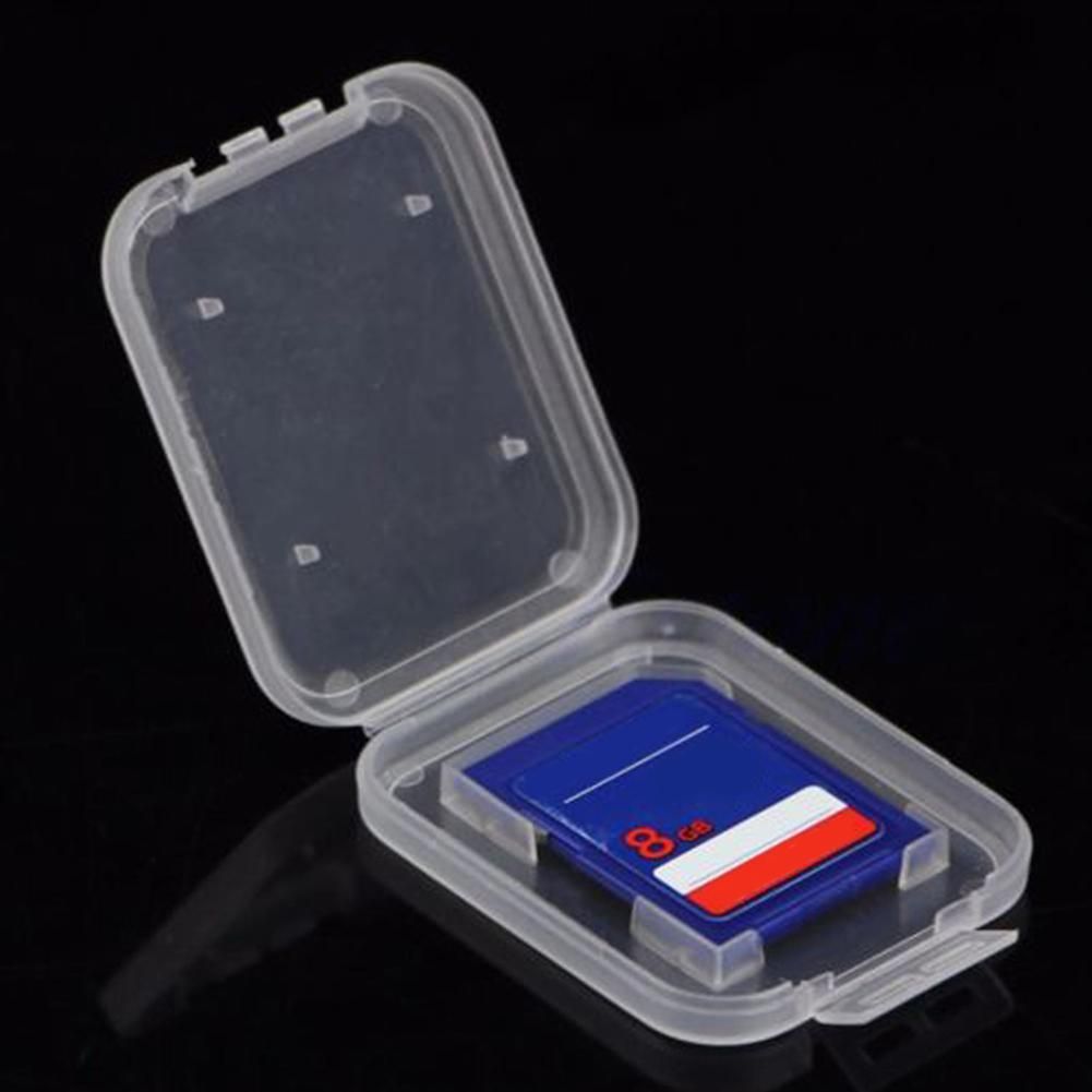 10Pcs Portable Lightweight Clear Standard SD SDHC Memory Card Anti-lost Case Storage Holder Box