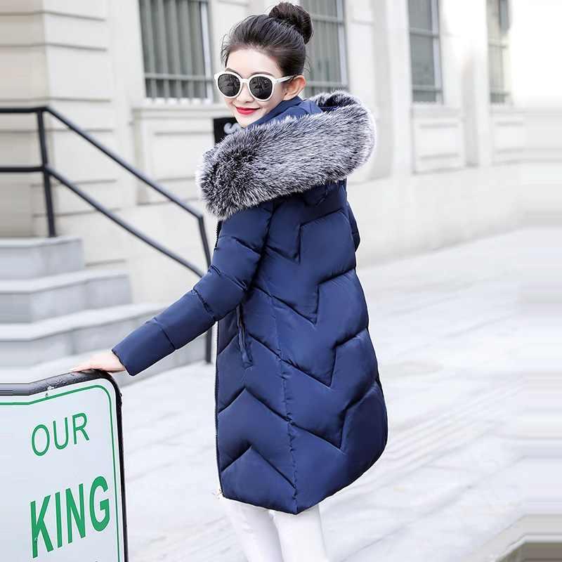 Grande De Pele das Mulheres para baixo casaco Novo 2019 Inverno Quente Parka Com Capuz Mulheres Jaqueta Amassado Inverno Das Senhoras Plus Size 6XL jaqueta casaco Feminino
