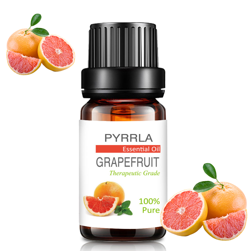 Pyrrla 10ml Grapefruit Pure Essential Oils For Aromatherapy Diffuser Fresh Air Humidifier Massage Body Relax Essential Oil