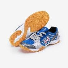 Мужская и женская обувь для бадминтона; Мужская Спортивная обувь для тренировок; износостойкая женская обувь для настольного тенниса; цвет белый, синий; размера плюс