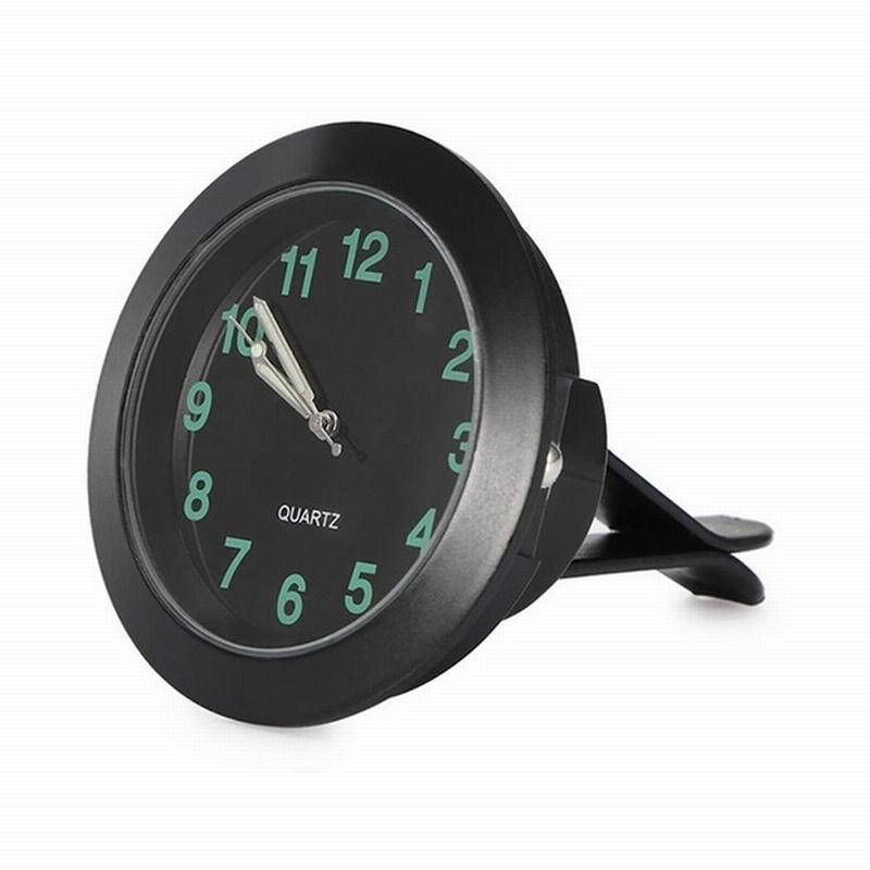 Car Clock Car Accessories Mini Auto Noctilucent Interior Decorative Clock Black Car Watch Car Electronic Quartz Clock For Car