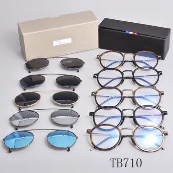 New york brand thom Eyeglasses frames  sunglasses men and women optiacl eye glasses TB710 clip sunglasses with original box brand new in original box philips gc5033 80 azur elite steam iron with optimaltemp technology original brand new