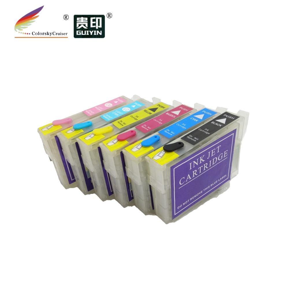 RCE-IC6CL50) многоразовый картридж с чернилами для принтера Epson IC6CL50 PM-G850 PM-G860 PM-G4500 PM-T960 k/c/m/y/lc/lm dhl