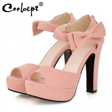 Size 31-43 New summer Peep toe Ankle Strap Orange Sweet Thick High Heel Sandals Platform Lady Women Shoes цены онлайн