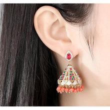 Индийские ювелирные изделия jhumka бусины колокольчики висячие