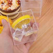 Bowl Jelly-Container Dessert Mousse Cup Ps-Souffle Appetizer Square Hard-Plastic Disposable
