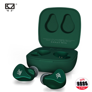 KZ Z1 TWS prawdziwe bezprzewodowe wkładki douszne KZ Bluetooth 5.0 1DD dynamiczny zestaw słuchawkowy z redukcją szumów sterowanie dotykowe KZ S1 S1D S2 ZSX