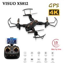 цена на VISUO 4K XS809HW Upgrade XS812 GPS Drone Folding Selfie Dron with HD  5G WIFI FPV Camera Quadrocopter RC Drones One Key Return
