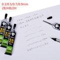 30 шт./корт. 0,3/0,5/0,7/0,9 мм автоматический карандаш сменный сердечник для механического карандаша 2B/HB/2H свинцовый Schoo офисные принадлежности