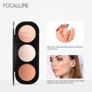 Image 5 - Focallure 新 arrivel 3 色赤面 & パレットフェイスマット蛍光粉末イルミネーション赤面粉末