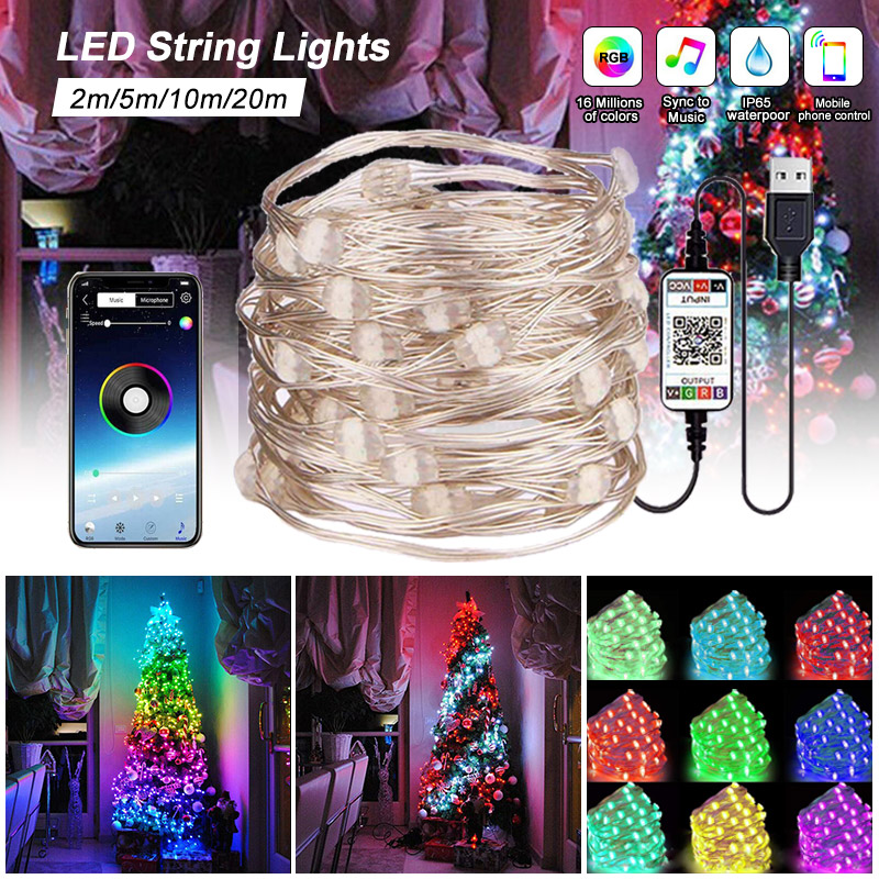 Lights Custom Waterproof Party Christmas Tree LED Personalized Lamp Decor String
