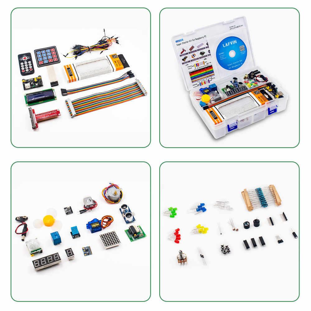 Kit de iniciación Super lafvins para Raspberry Pi 4, modelo 3B + 3B 3A + 2B 1B + 1A + Zero W + Kit de bricolaje