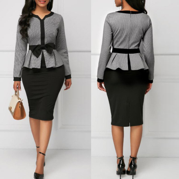 MD Women Dress Elegant Ladies Clothes African Dresses For Fashion New Africa Bodycon Pencil Vintage Long Sleeve Robe